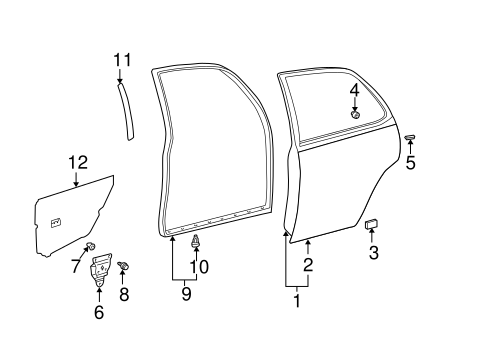 Door Weather-Strip - Toyota (67871-AA020)
