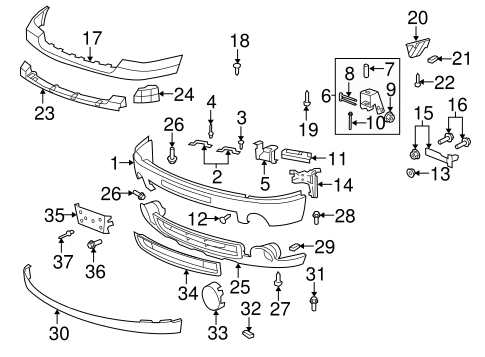 T3285977 Need diagram drive belt assembly further 565835140654972514 besides Coolant Temperature Sensor Location 2001 Ford Pickup 5 4l furthermore Bumper And  ponents Front Scat together with 97 Gmc Jimmy Fuel Pump Relay Location. on 03 gmc sierra denali