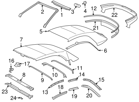 Front Weather-Strip - Toyota (63251-06040)