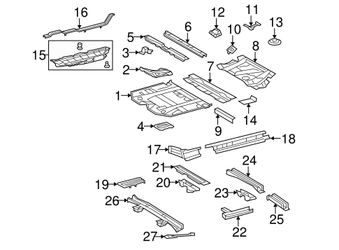 BODY/FLOOR & RAILS for 2010 Toyota Highlander #1