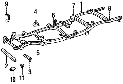 BODY/FRAME for 1997 Toyota T100 #1