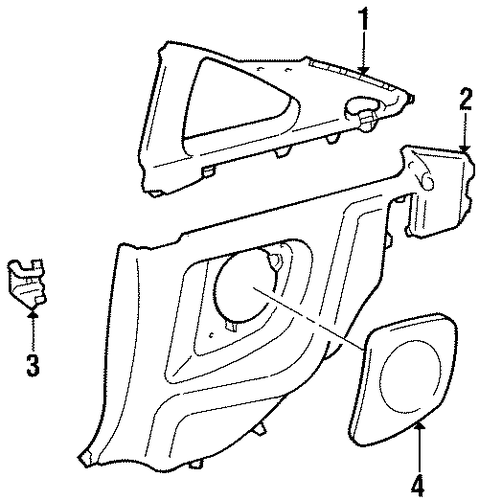 BODY/INTERIOR TRIM - QUARTER PANELS for 1997 Toyota Supra #1
