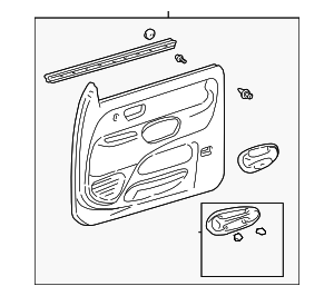 Door Trim Panel - Toyota (67620-0C021-E1)