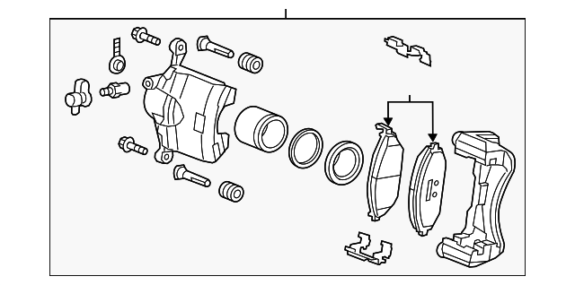 Caliper Assembly - GM (95018663)