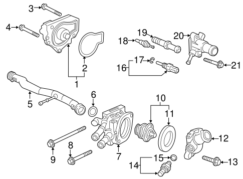 OEM Honda 19320-P30-J00 - Thermostat Housing