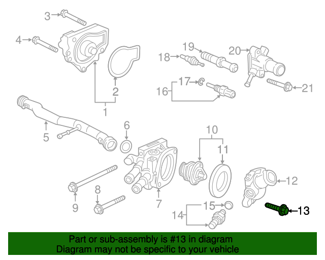 2001 Honda ACCORD SEDAN VP BOLT, FLANGE (6X20) - (957010602008)