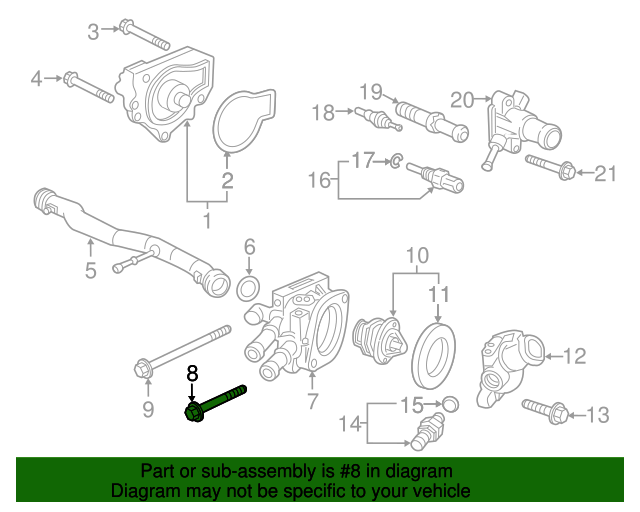 1996 Honda CIVIC SEDAN LX (ABS) BOLT, FLANGE (6X45) - (957010604508)
