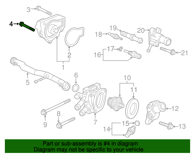 2001 Honda ACCORD SEDAN VP (SIDE SRS) BOLT, FLANGE (6X30) - (957010603008)
