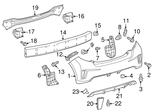 BODY/BUMPER & COMPONENTS - REAR for 2014 Toyota Yaris #2