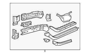 Lower Rail Assembly - Toyota (57102-0R010)