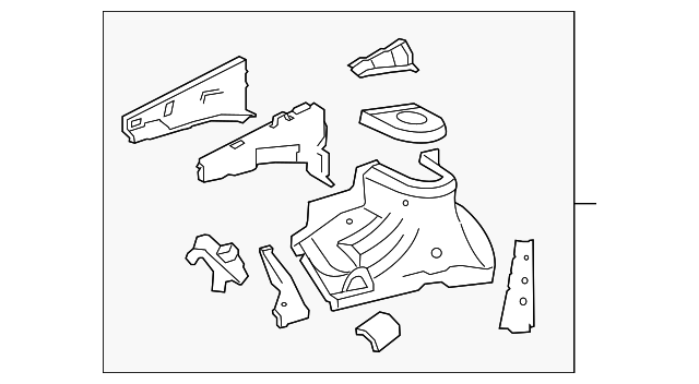 Apron Assembly - Toyota (53702-0R010)
