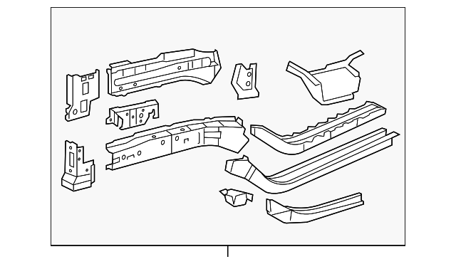 Lower Rail Assembly - Toyota (57101-0R010)