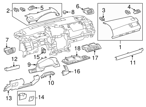 Lower Trim Panel - Toyota (55432-06100-A0)