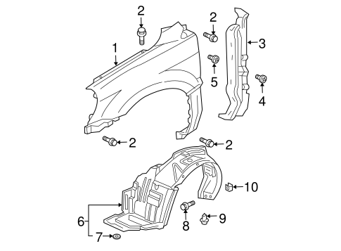 Rear Shield - Honda (74155-S9V-A00)