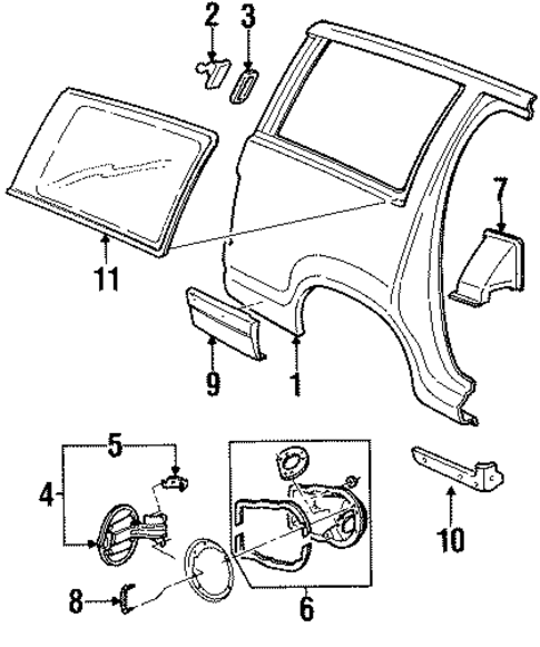 quarter panel  u0026 components for 1999 mercury mountaineer