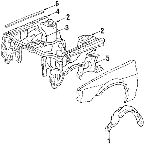 Lower Rail - Toyota (57101-12251)