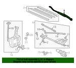 1999 Honda ACCORD SEDAN DX ARM, WINDSHIELD WIPER (DRIVER SIDE) - (76600S84A01)