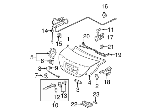 OEM Honda 74862-SE3-003 - Lock Striker