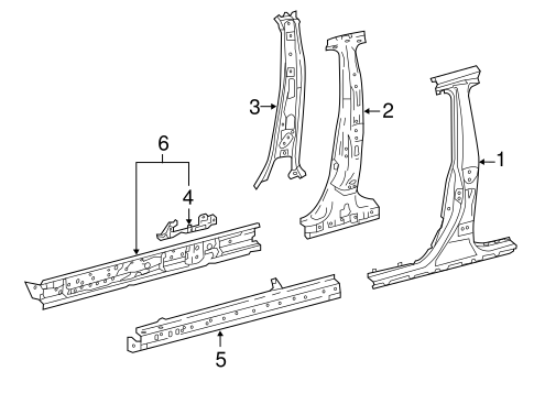 Center Pillar & Rocker - Toyota (61311-47050)