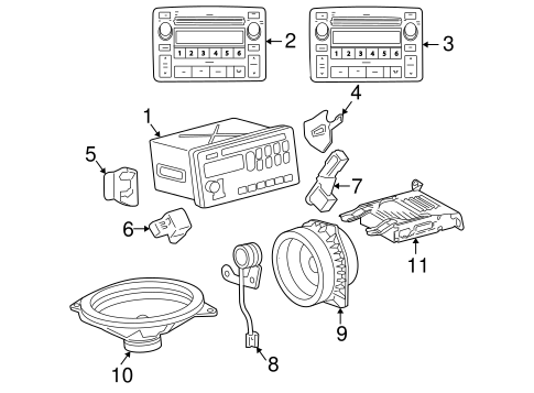 BODY/SOUND SYSTEM for 2003 Toyota Corolla #1