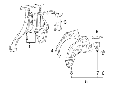 Extension Panel - Toyota (61635-52030)