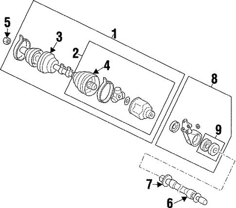 mitsubishi galant rear suspension diagram  mitsubishi