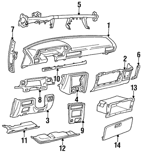 Glove Box - Toyota (55581-32010)