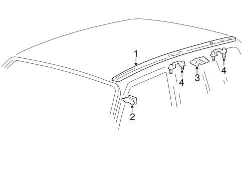 BODY/EXTERIOR TRIM - ROOF for 1997 Toyota RAV4 #1