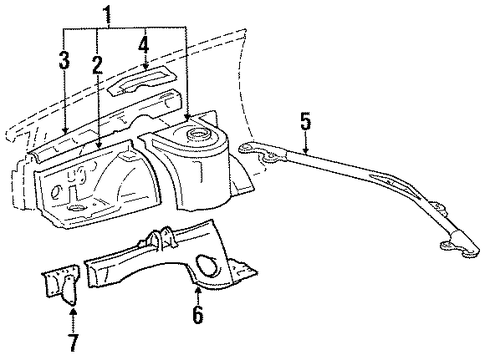 Apron Assembly - Toyota (53701-20630)