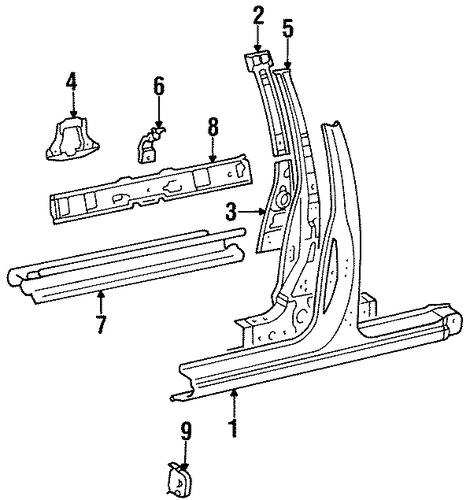 Lower Extension - Toyota (61386-16010)