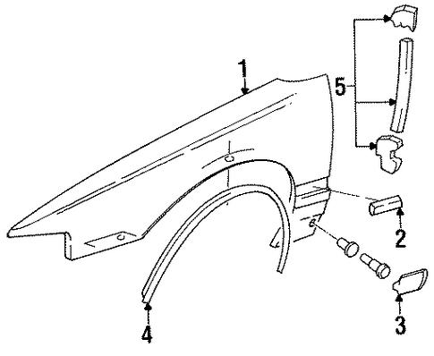 fender  u0026 components parts for 1996 chevrolet impala