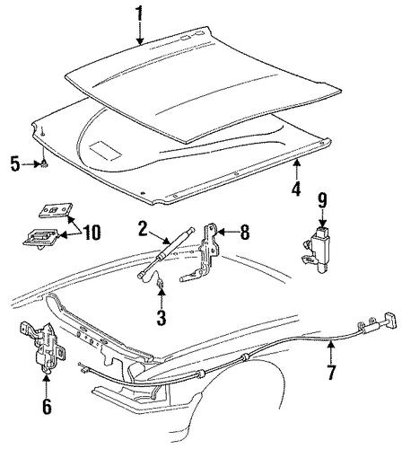hood components for 1997 mercury grand marquis. Black Bedroom Furniture Sets. Home Design Ideas