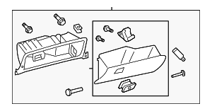 Glove Box Assembly - Toyota (55303-07010-C0)