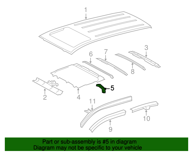 Sunroof Reinforced Support - Toyota (63118-0R010)