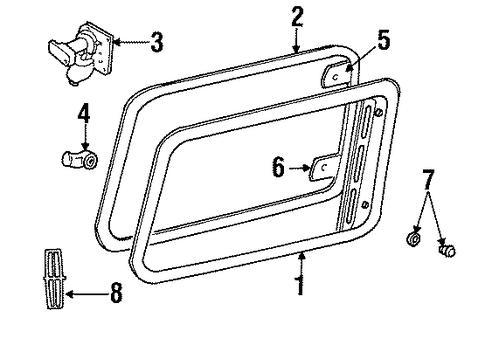 glass  u0026 hardware for 2002 lincoln navigator