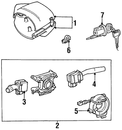 ELECTRICAL/AIR BAG COMPONENTS for 1998 Toyota Tercel #1