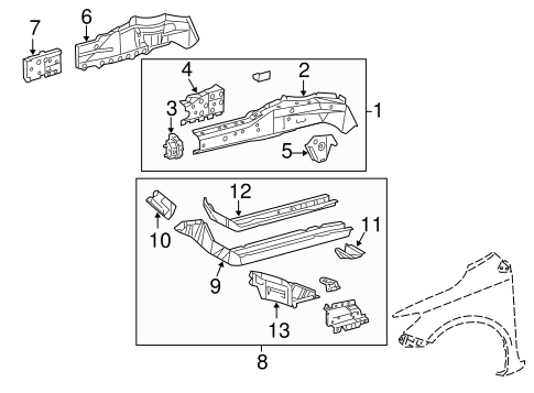 Rail Assembly - Toyota (57102-02922)