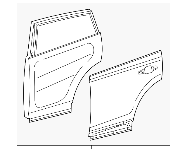 Door Shell - Toyota (67003-0R091)