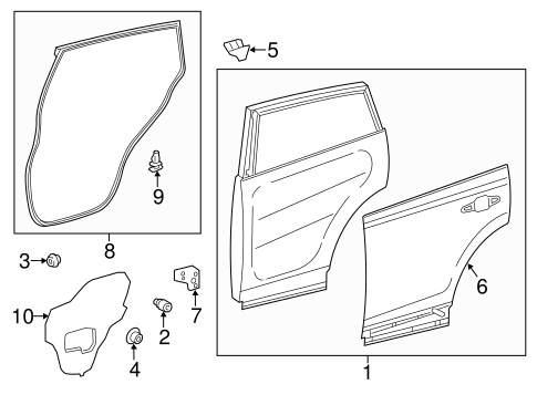 BODY/DOOR & COMPONENTS for 2013 Toyota RAV4 #2