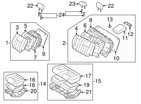 BODY/REAR SEAT COMPONENTS for 1998 Toyota Land Cruiser #2