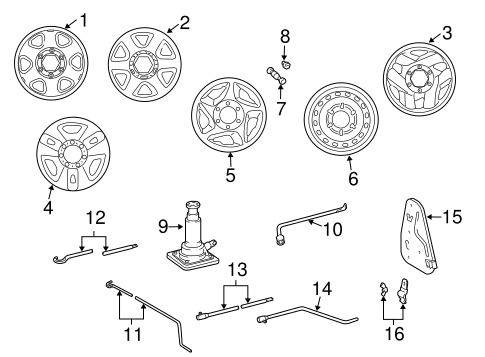 FRONT SUSPENSION/WHEELS for 2001 Toyota Tacoma #1