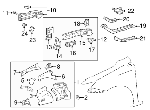 Apron Assembly - Toyota (53701-12A40)