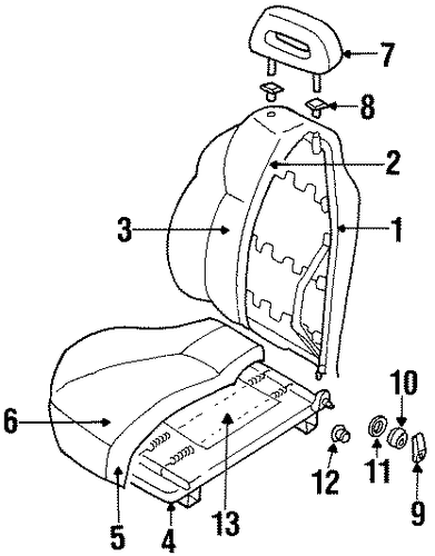 Headrest Guide - Honda (8-97159-701-3)