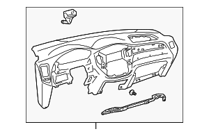 Instrument Panel - Toyota (55301-48060-EO)