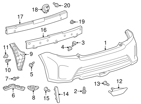 BODY/BUMPER & COMPONENTS - REAR for 2014 Scion tC #1