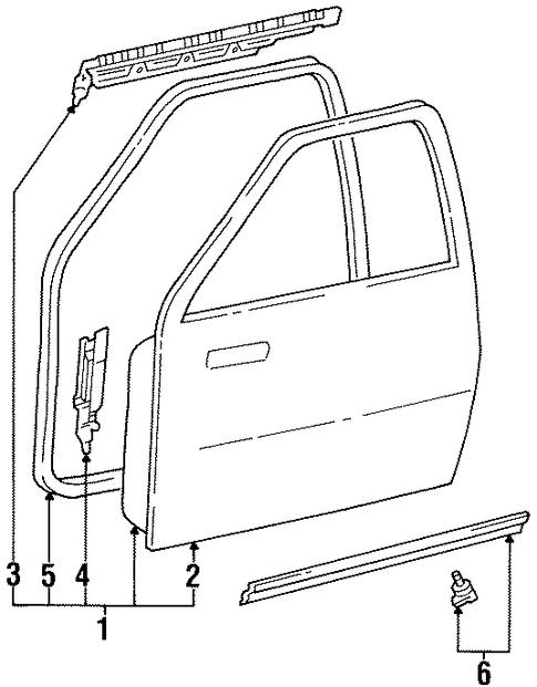Door Shell - Toyota (67002-34010)