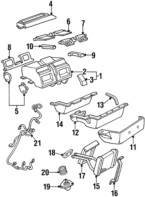 heater components for 1996 oldsmobile aurora