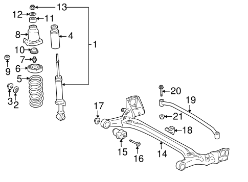 REAR SUSPENSION/REAR SUSPENSION for 2005 Toyota Prius #2