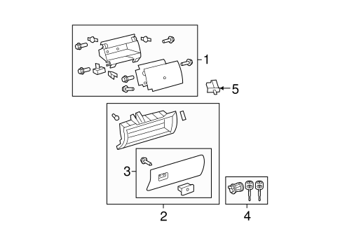 Glove Box Assembly - Toyota (55320-0C022-B1)