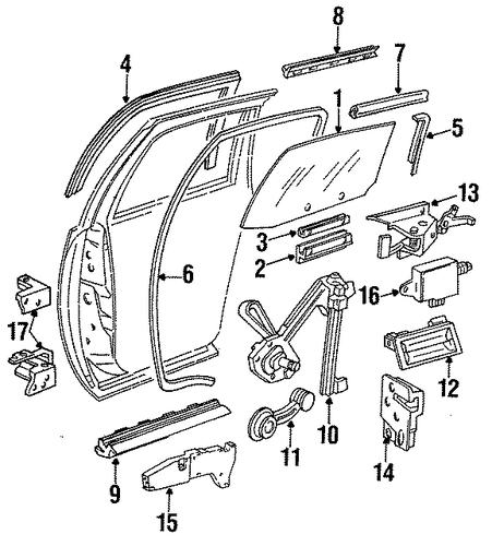 rear door for 1995 chevrolet impala